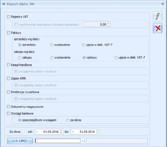 Jednolity Plik Kontrolny – Nowa wersja OPTIMA 2016.5.1