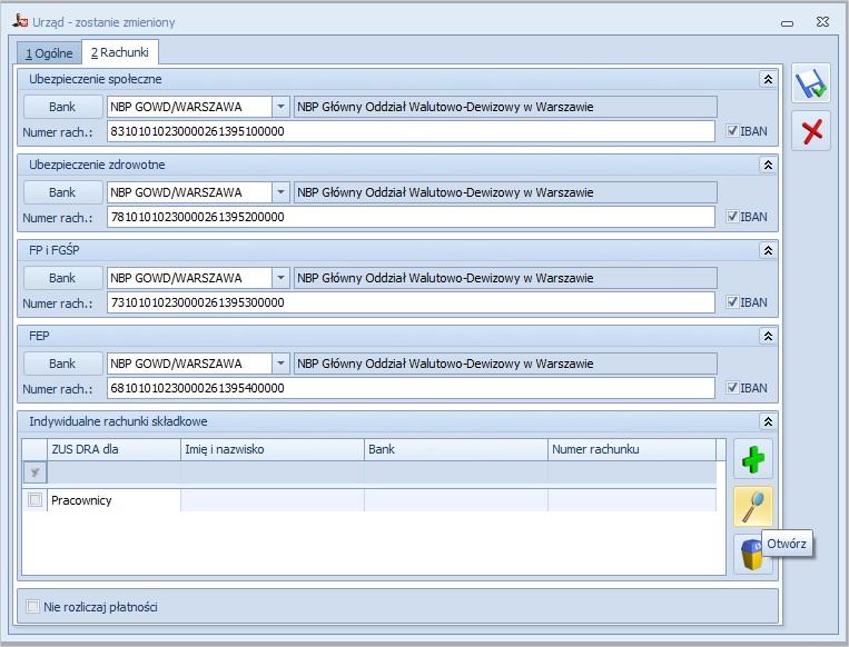 Indywidualny rachunek ZUS w Comarch ERP OPTIMA