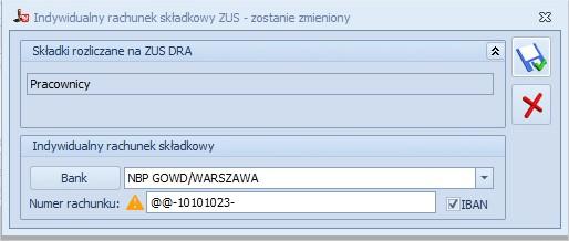 Dodawanie indywidualnego rachunku ZUS Comarch OPTIMA