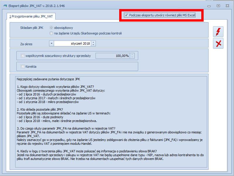 Generowanie podpisywanie i wysyłanie pliku JPK COMARCH OPTIMA