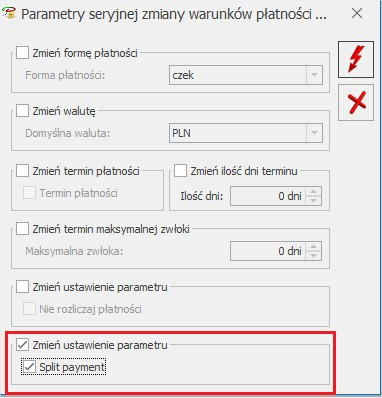 Split Payment zmiana w COMARCH ERP OPTIMA