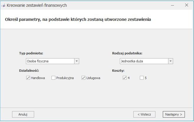 Generowanie zestawień księgowych w COMARCH OPTIMA