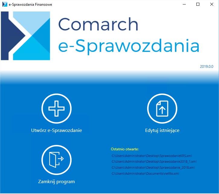 e-sprawozdania program do generowania sprawozdań elektronicznych do KRS