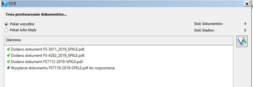 Wysyłka zeskanowanych dokumentów do COMARCH OCR