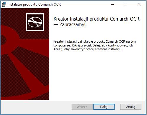 Instalacja COMARCH OCR