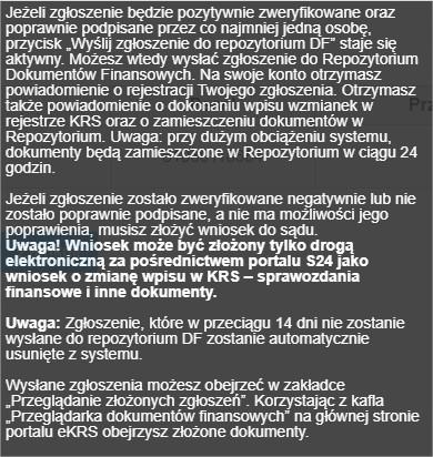 Weryfikacja e- sprawozdania w ekrs
