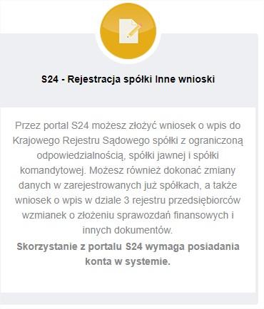 zakładanie konta s24 , wysyłka sprawozdania