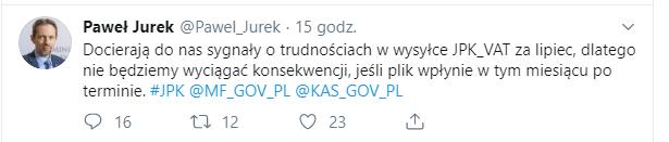 Kary za nieterminowe złożenie lipcowego JPK nie będzie!