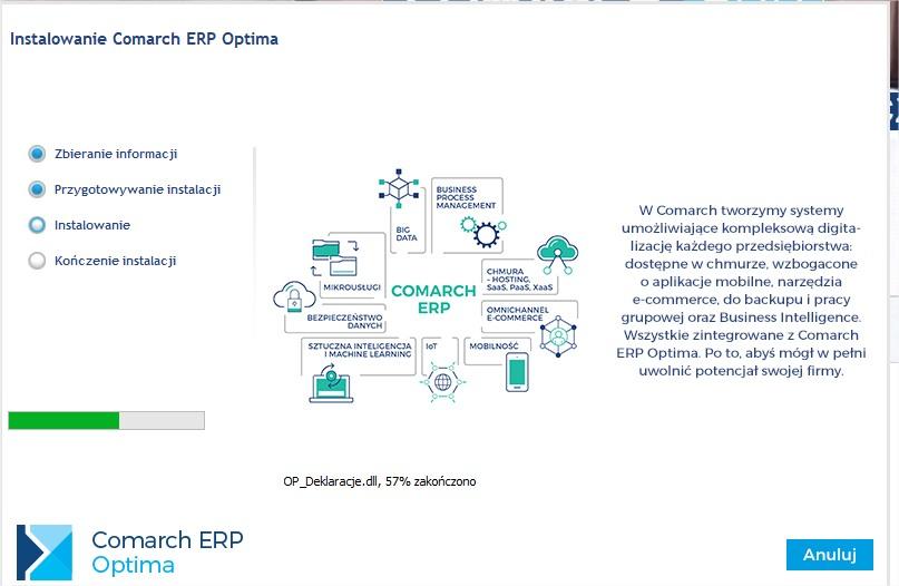 Aktualizacja COMARCH ERP OPTIMA do najnowszej wersji