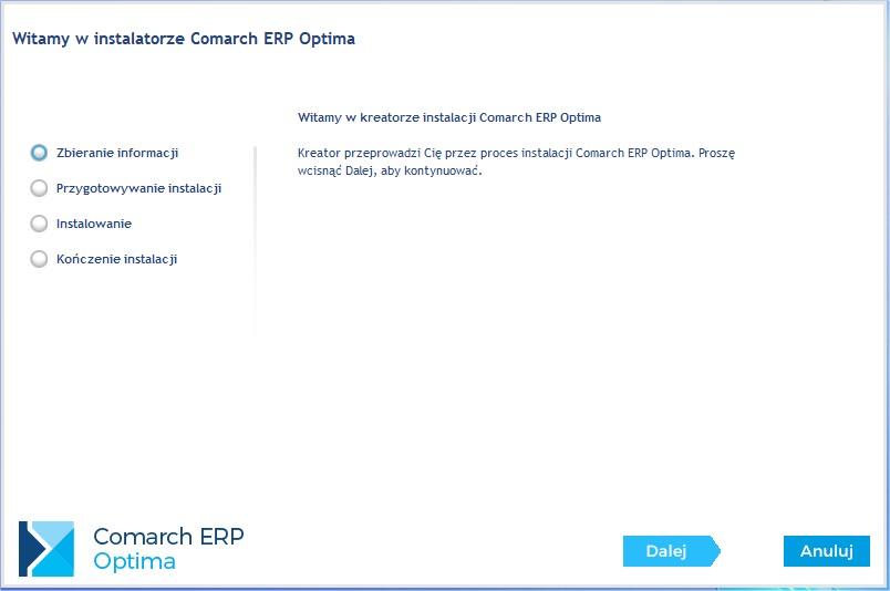 Aktualizacja COMARCH ERP OPTIMA