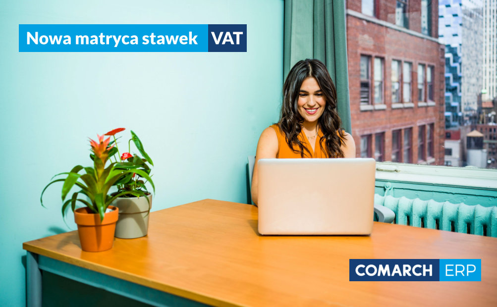 Nowa matryca VAT zmiana stawek COMARCH OPTIMA
