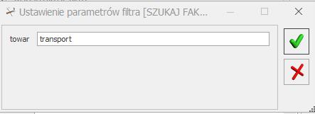 Filtrowanie dokumentów COMARCH OPTIMA plik JPK kody GTU